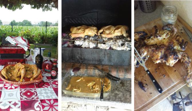 Poulet de Ruols en crapaudine à la Portugaise