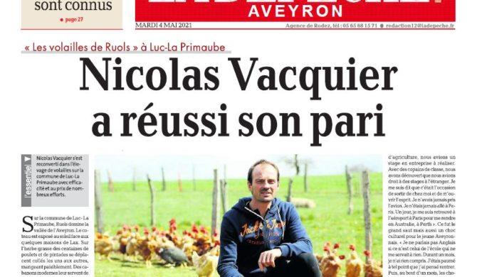 Un bel article sur La Dépêche Aveyron !